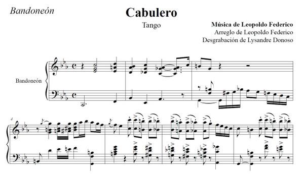 Cabulero (arr. Leopoldo Federico) - bandoneón solo