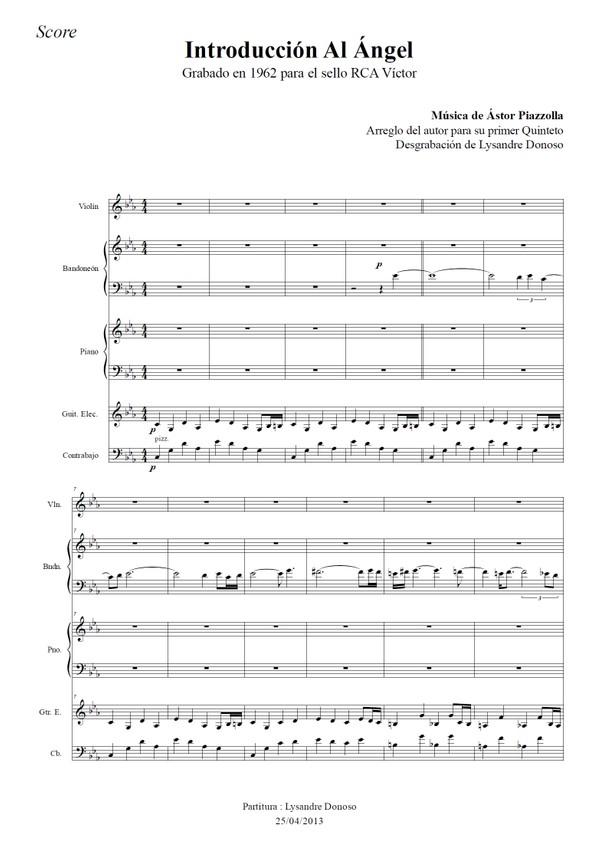 Introducción Al Ángel - quinteto de Astor Piazzolla