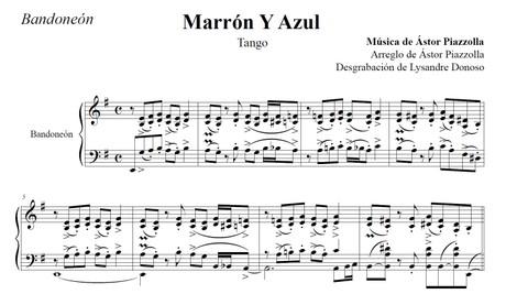 Marrón Y Azul (arr. Astor Piazzolla) - bandoneón solo