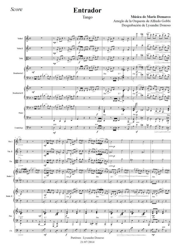 Entrador - orquesta típica de Alfredo Gobbi