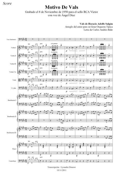 Motivo De Vals - orquesta típica de Horacio Salgán