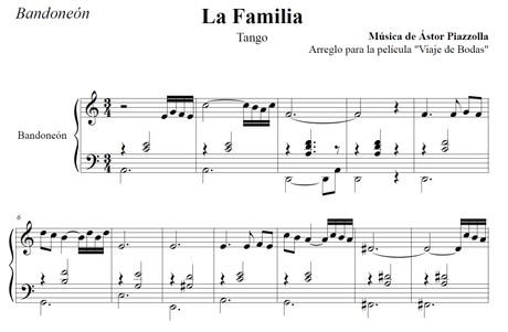La Familia (arr. Astor Piazzolla) - bandoneón solo