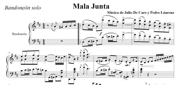 Mala Junta (arr. Leopoldo Federico) - bandoneón solo