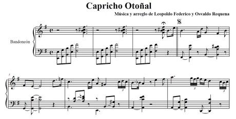 Capricho Otoñal (arr. Leopoldo Federico) - bandoneón solo