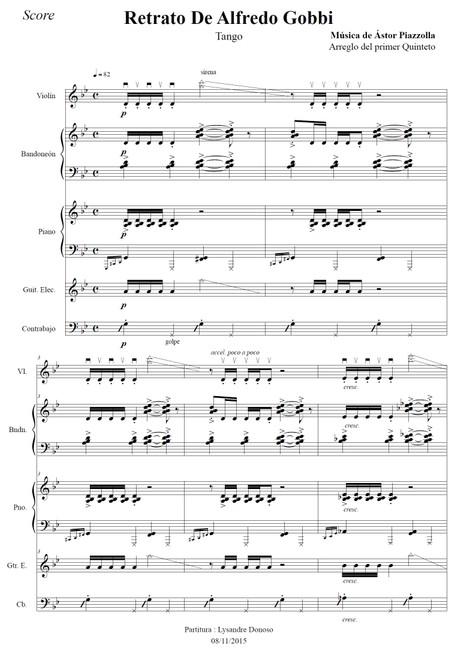 Retrato De Alfredo Gobbi - quinteto de Astor Piazzolla