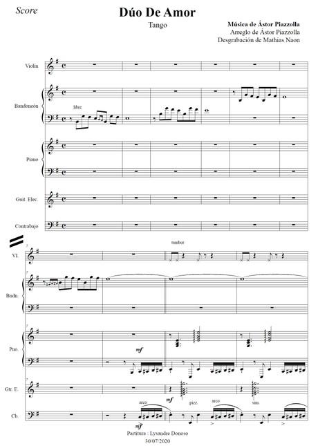 Dúo De Amor - quinteto de Astor Piazzolla
