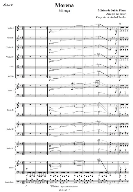 Morena (arr. Julián Plaza) - orquesta típica de Aníbal Troilo