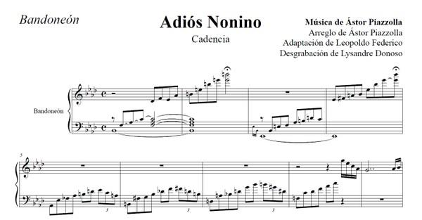 Adiós Nonino cadenza (arr. Leopoldo Federico) - bandoneón solo