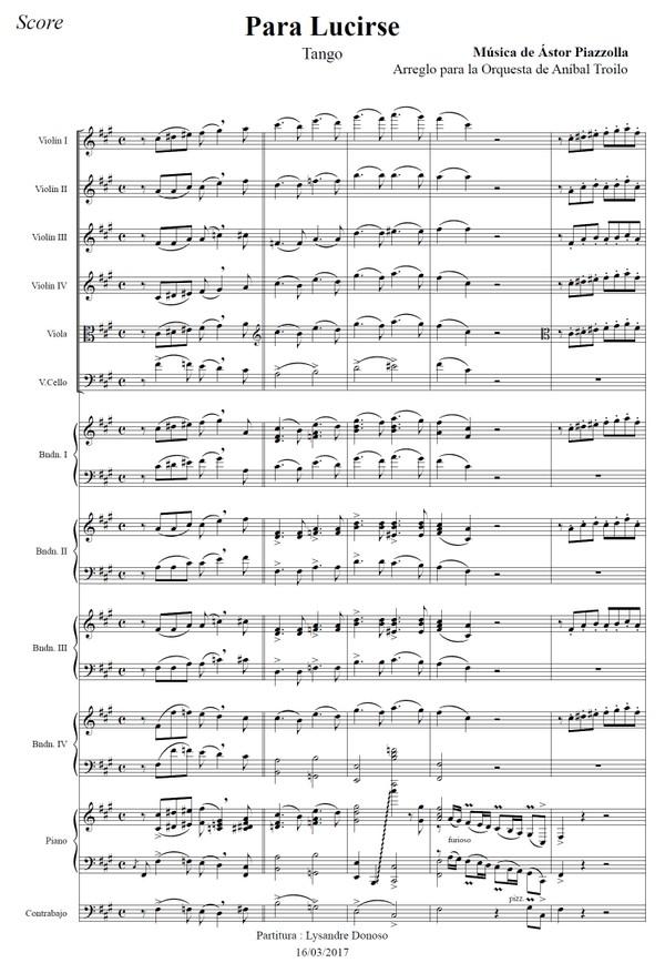Para Lucirse (arr. Astor Piazzolla) - orquesta típica de Aníbal Troilo