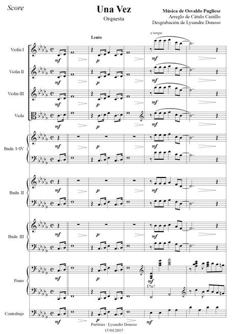 Una Vez - orquesta típica de Osvaldo Pugliese