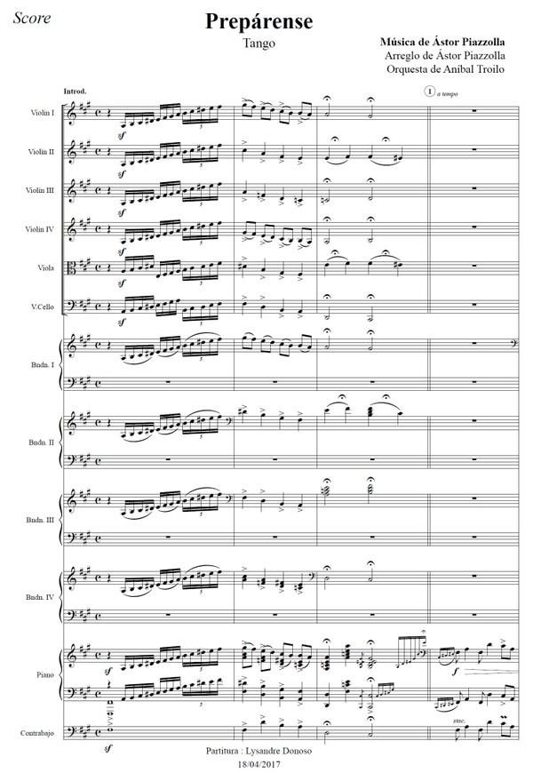 Prepárense (arr. Astor Piazzolla) - orquesta típica de Aníbal Troilo