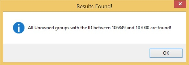 Roblox Unowned Group Finder