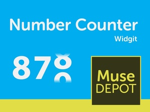 Number Counter 2.0 - Muse Widget