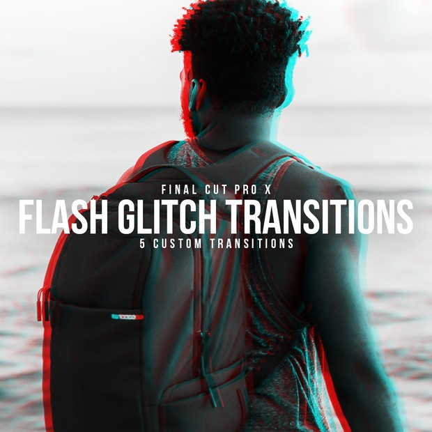 Glitch Flash Transitions Pack (FOR FCPX)