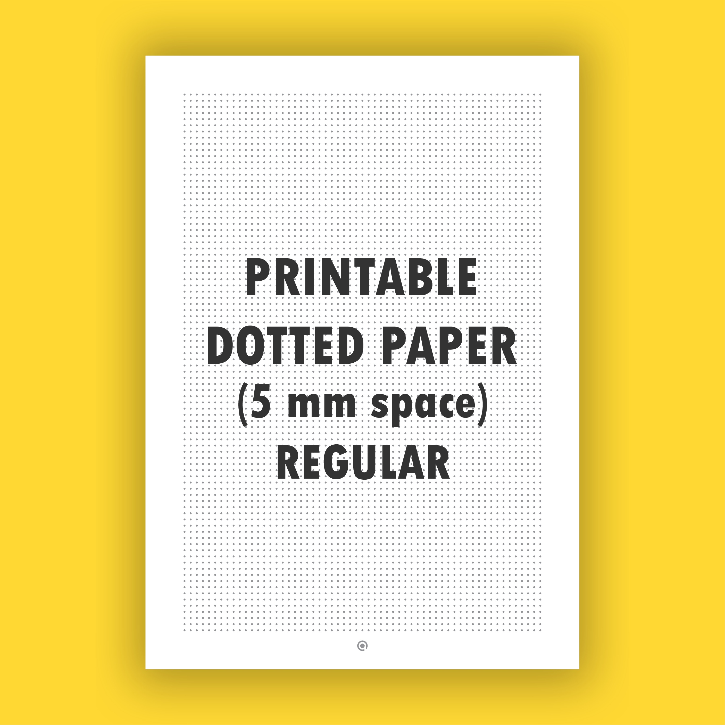picture regarding Printable Dotted Paper referred to as Printable Dotted Paper (5 mm House) Monthly
