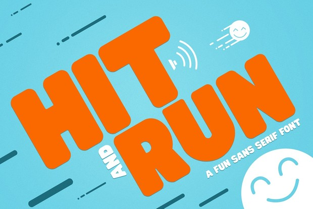 Hit and run Font