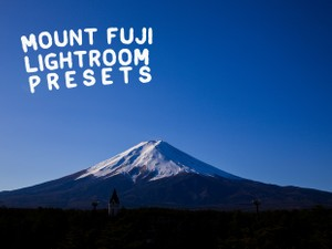 Mount Fuji Lightroom Presets
