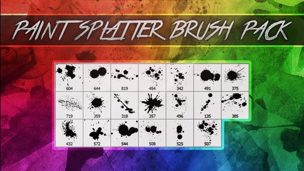Paint Splatter Photoshop Brush Pack