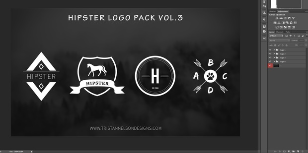 free hipster logo templates vol 3 tristan nelson