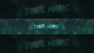 Clean Colorful YouTube Banner Template #3