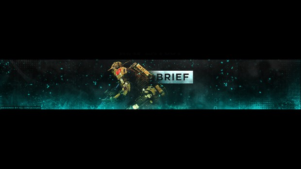 Brief Gaming YouTube Banner PSD