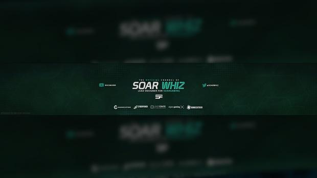 SoaR Whiz YouTube Banner PSD