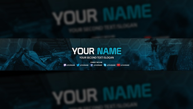 Clean YouTube Banner Template