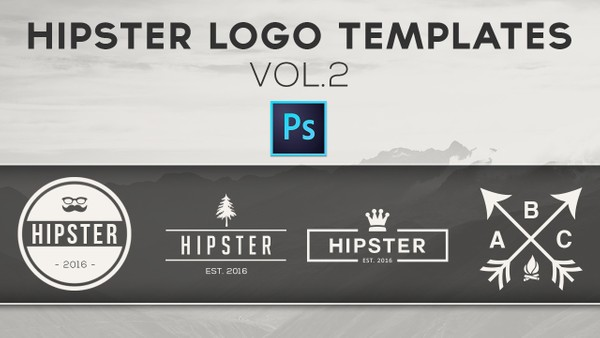 Free Hipster Logo Templates Vol.2