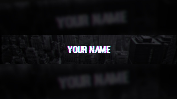 Glitch YouTube Banner Template