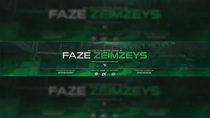 FaZe Zeimzeys YouTube Banner PSD