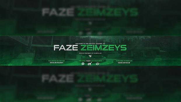 FaZe Zeimzeys YouTube Banner PSD