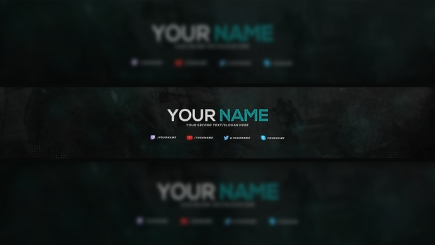 2D YouTube Banner Template