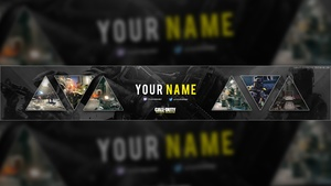 Call of Duty: Infinite Warfare YouTube Banner Template