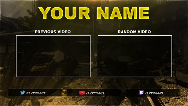 Gaming Outro Template