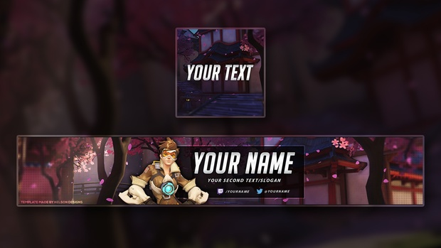Overwatch YouTube Banner Template