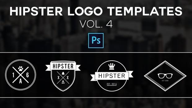 Free Hipster Logo Templates Vol.4