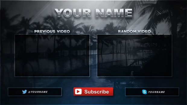 2016 Video Outro Template