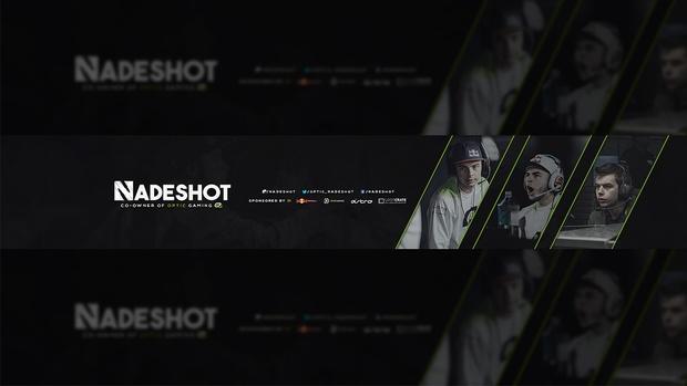 OpTic Nadeshot YouTube Banner PSD