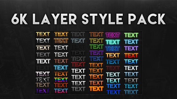 6k Layer Style Pack