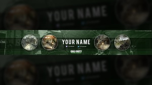 Call of Duty: Modern Warfare Remastered YouTube Banner Template