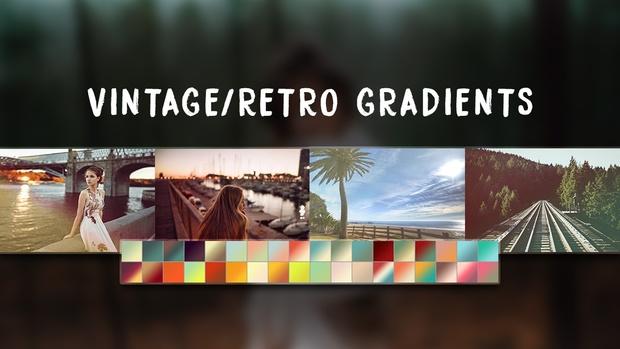 Free Vintage/Retro Photoshop Gradients Pack