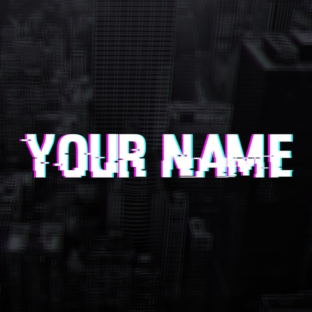 glitch youtube banner template tristan nelson