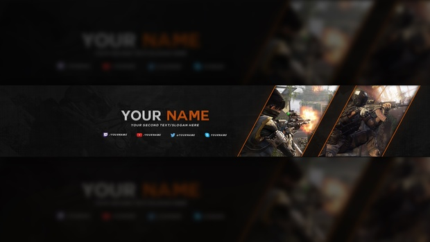 BO3 YouTube Banner Template