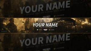 Call of Duty: WW2 YouTube Banner Template