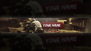 CS:GO YouTube Banner Template
