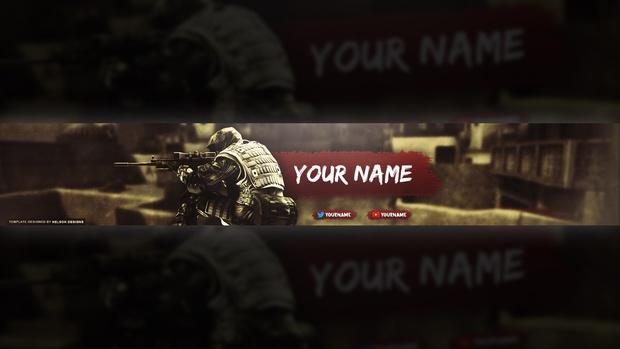 CS:GO YouTube Banner Template