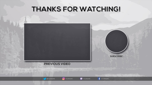 Free 2017 Video Outro Template