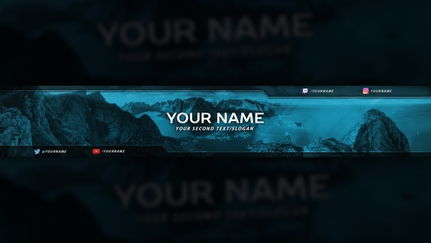 Clean Colorful YouTube Banner Template #2