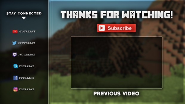 Minecraft Outro Template