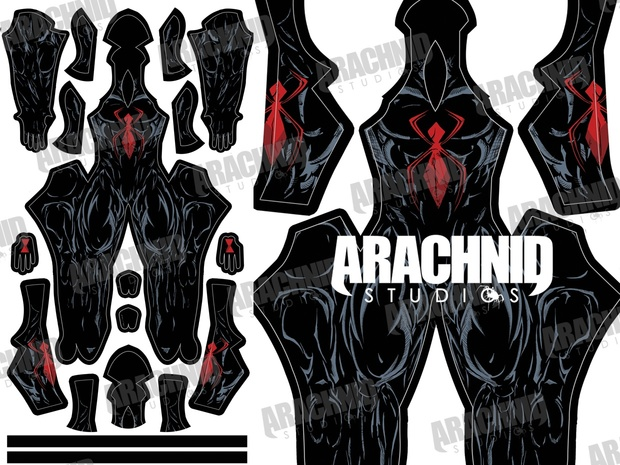 Blackwidow Spider-Man Dye-sub Pattern